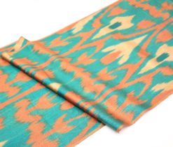 Ikat Pattern Blue Brown Textile