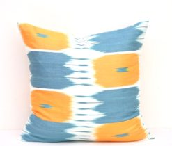 blue yellow ikat pillow, Blue Yellow Classic Home Decor Pillow