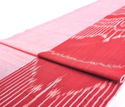 Red Handwoven Solid Sided Cotton Fabric
