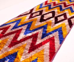 Multicolored chevron ikat fabric