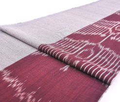 Linen Dark Brown Gray Juxtaposed Fabric