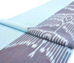 Linen style cotton ikat fabric upholstery