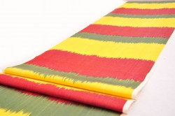 yellow red ikat fabric