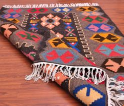 Turkish Area Kilim Rug, wool kilim rug