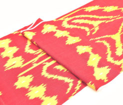 Red Handdyed Eco Textile Silk Fabric