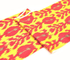 yellow red fabric throws, Yellow Red Ikat Upholstery Fabric