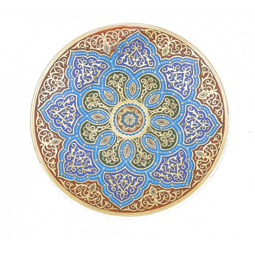 Decorative Brass Tray For Sale