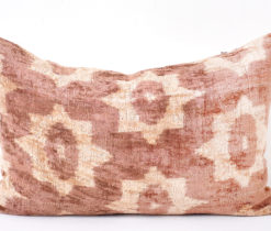 brawn velvet ikat pillow, Brown Peru Velvet Ikat Pillow