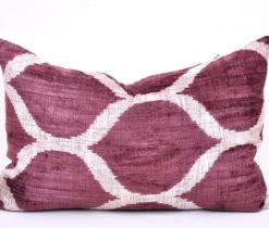 ikat cushion silk, Accent Silk velvet ikat cushion