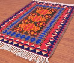 Uzbek Wool Kilim Rug Orange, wholesale kilim rug