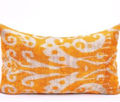 yellow velvet cushion, Yellow Velvet Lumbar Sofa Pillow Case