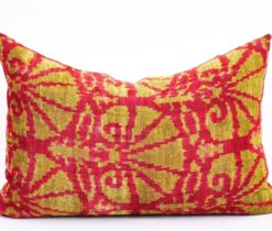 Lumbar Pillow Ikat, Luxury Soft Designer Throw Pillow Cover