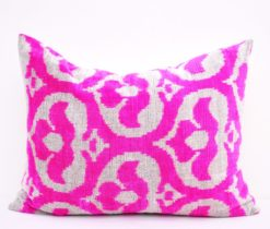 pink ikat pillow cover, Decorative Throw Ikat Velvet Pillow