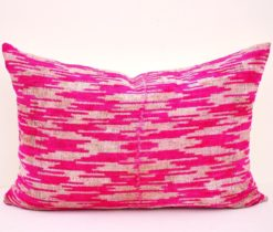 Pink ikat pillow case,Pink Velvet ikat pillow case