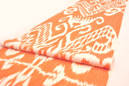 yellow Ikat Fabric by the yard