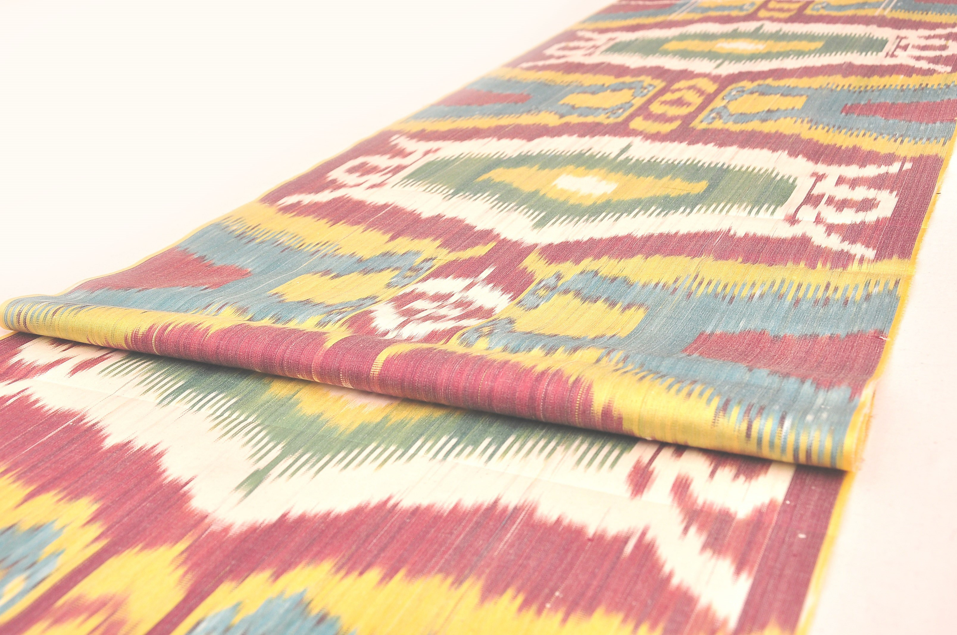 Uzbek ikat fabric by the yards upholstery fabric fabric table runner cotton ikat