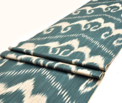Green Designer Ikat Fabric