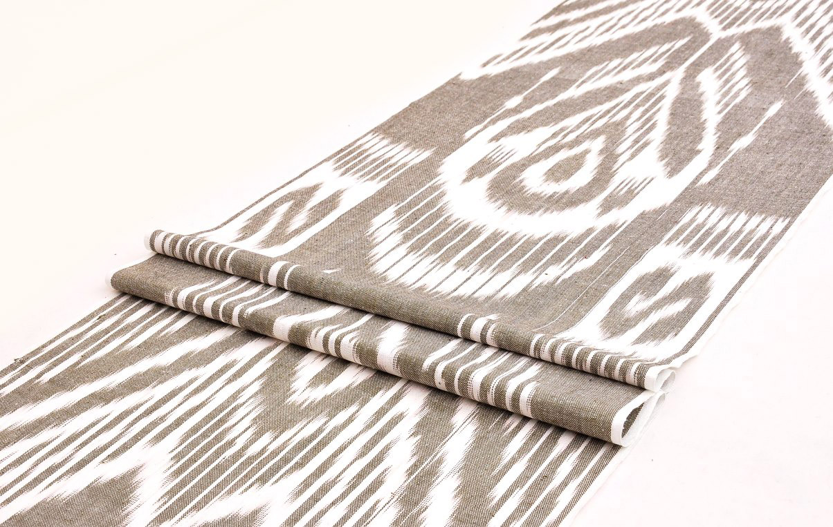 Designer cotton ikat fabric by the yard alesouk grand bazaar for Designer fabric by the yard