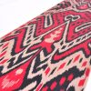 coral red ikat fabric