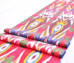 Ikat fabric upholstery