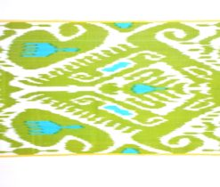 lime green ikat fabric