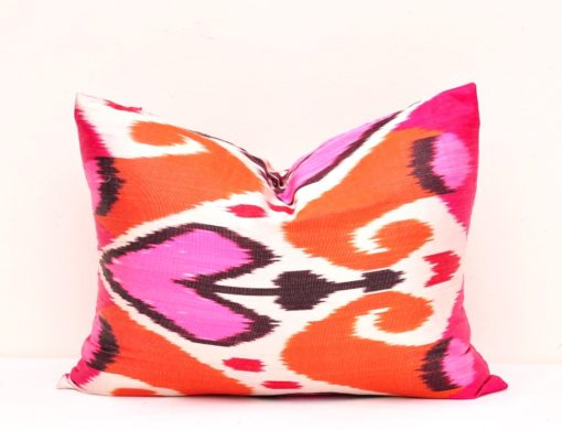 Designer Lumbar Ikat Pillow Cover, Lumbar Ikat Pillow Cover