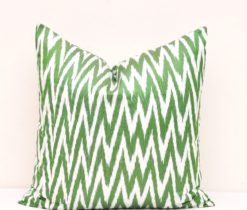 Green Chevron Throw Pillow Cover