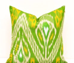 Light Green Decorative Ikat Pillow