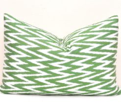 ikat pillow cover, Green Chevron Decorative Pillow Cover