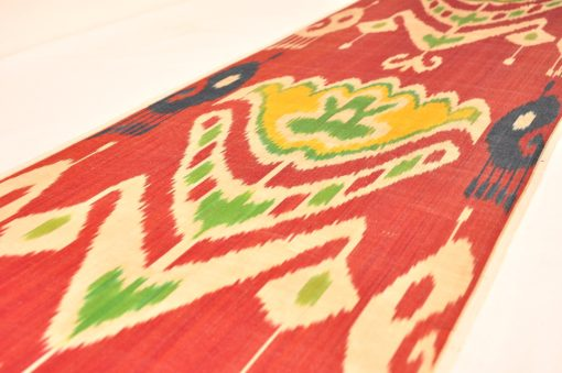 Silk ikat fabric red