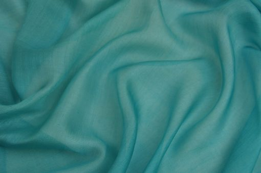 Teal Blue Silk Chiffon Sale, Teal Blue guaze fabric silk