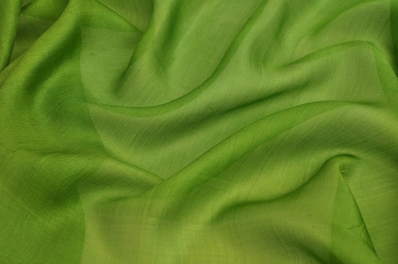 green crinkled silk chiffon wholesale cloth material