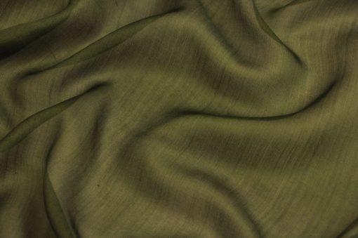 silk chiffon fabric, Green Seaweed Silk Chiffon Cloth