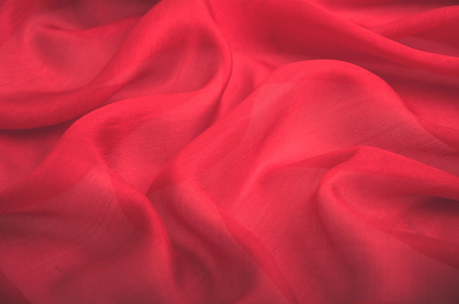Indian Red Pure Silk Gauze Fabric Wholesale Supplier