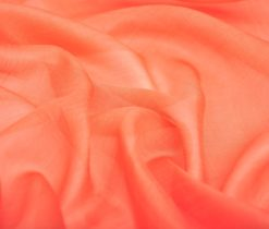 orange ikat fabric, Orange Silk Gauze Fabric Chiffon