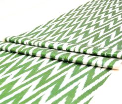 chevron green ikat