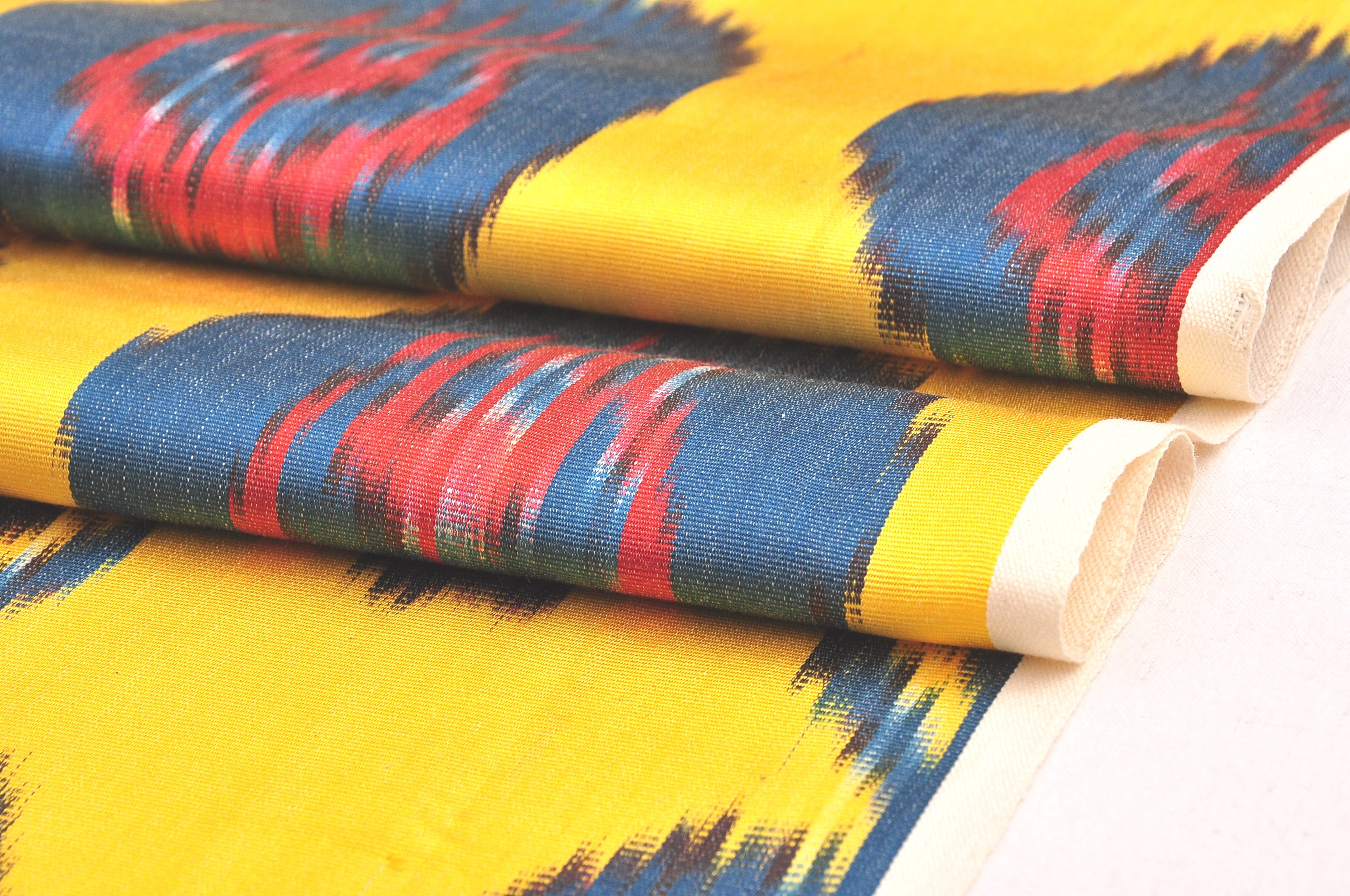 Yellow Ikat Fabric By The Yard Width 60 Cm Alesouk
