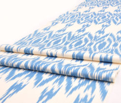blue silk cotton fabric