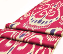 Red Ikat Upholstery