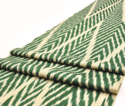 Green Cotton Ikat Fabric