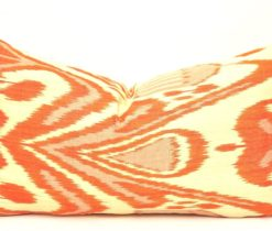 ikat pillows, Orange Rectangular Lumbar Pillow Case