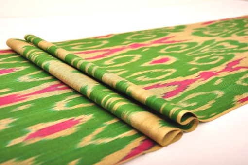 green ikat upholstery fabric, ikat fabric by the yard