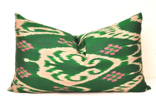 lumbar pillow cover, Green Ikat Lumbar Pillow Cover Wholesale Direct Best