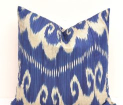 Blue Accent Ikat Pillow Cover, ikat pillow covers