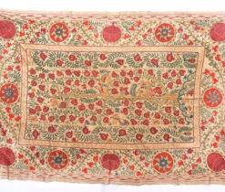 Vintage Uzbek Suzani Embroidery, Embroidered Cover & Hanging,
