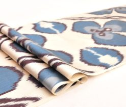 Blue Ikat Fabric Yards Sale, silk ikat fabric, ikat silk fabric,
