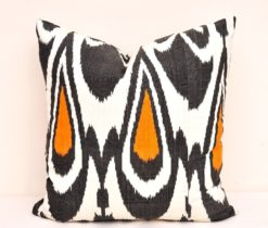 Ikat Pillow-Ikat Pillows-Ikat Pillow Covers- Ikat Pillow 20 x 20 inch-Black white ikat pillow- Designer ikat pillow-Decorative Ikat Pillow