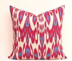 ikat throw pillows, ikat throw