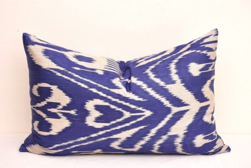Blue Decorative Lumbar Throw Pillow, Decorative Lumbar Throw Pillow