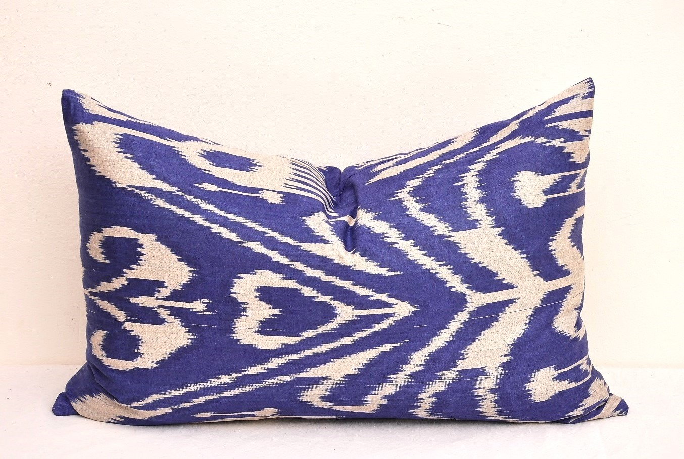 Blue Decorative Lumbar Throw Pillow - Alesouk Grand Bazaar online shopping